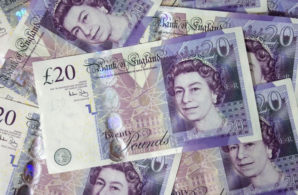 イギリスのポンド紙幣