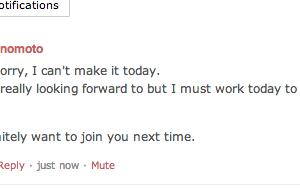 Meet upのイベントで仕事でなくなくキャンセル。。。
