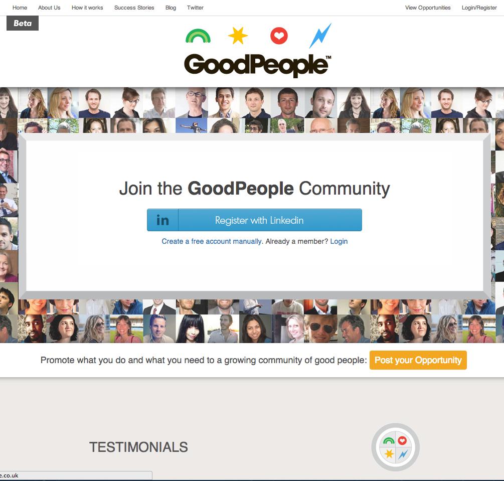 ネットサーフィンしていたら偶然見つけたサイト「Good people」