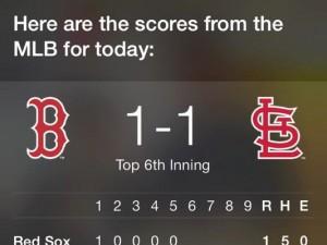 siriがメジャーリーグの速報を教えてくれました。