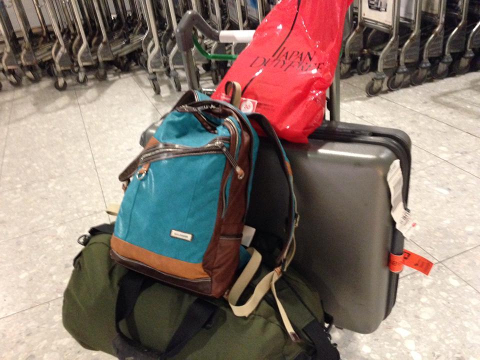 イギリスに持って行って荷物(総量約46キロ)