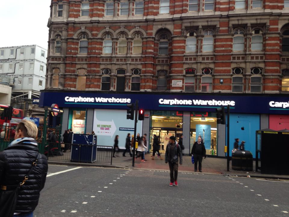ロンドンにあるCarphone warehouse