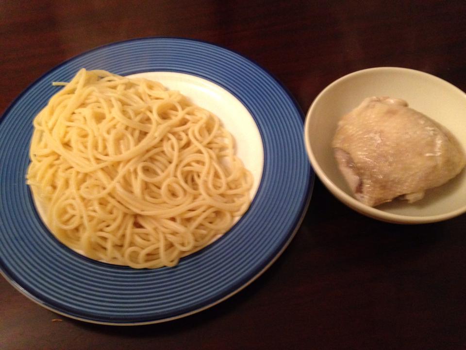 スパゲッティーとチキン