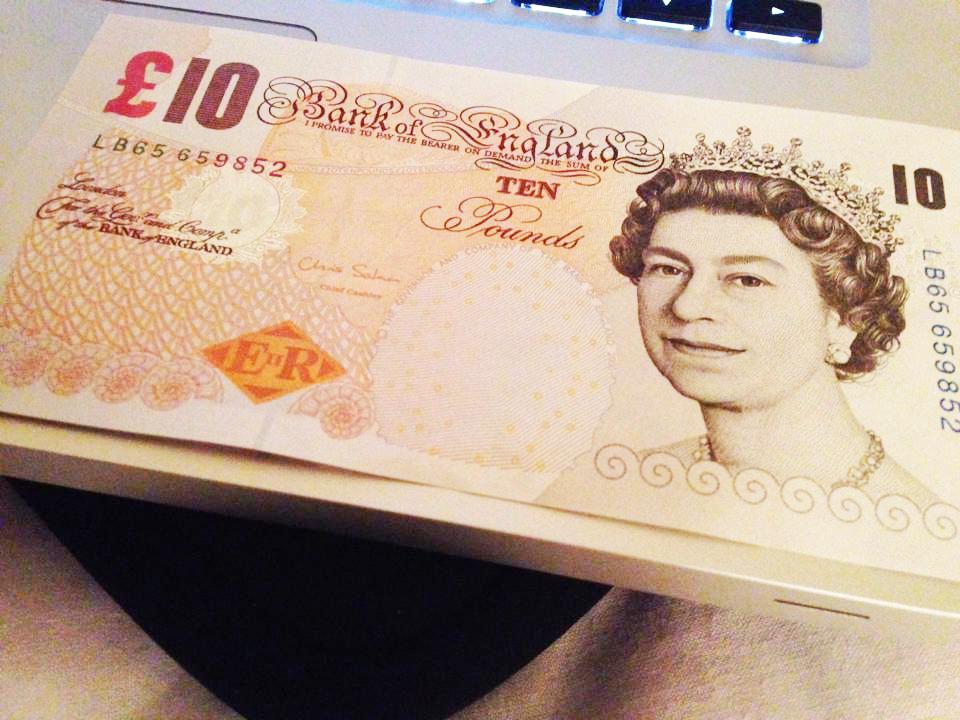 イギリスの10ポンド札