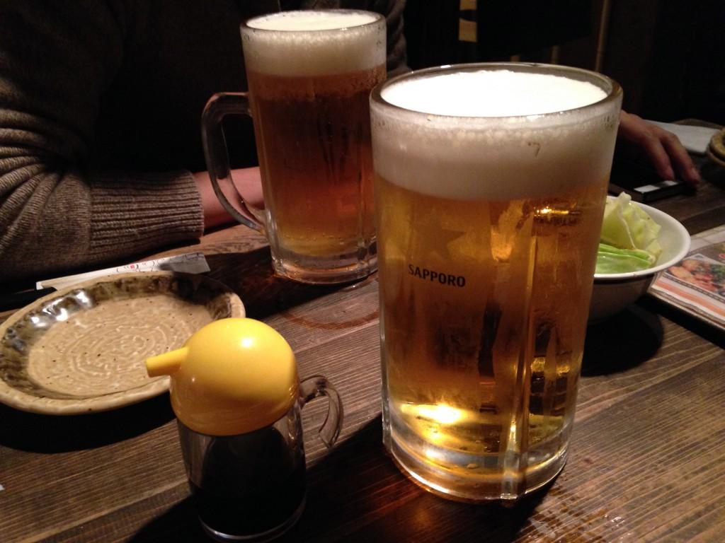 メガサイズのビール
