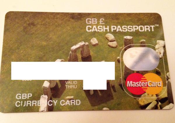 イギリスポンド用のキャッシュパスポート