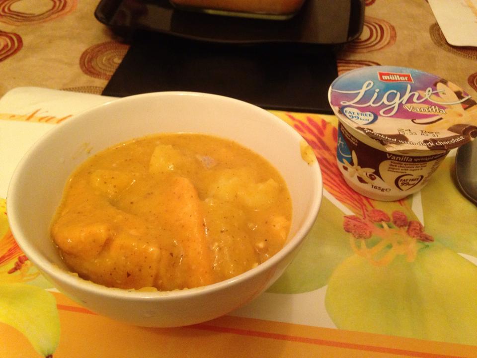 サーモンとジャガイモのスープ