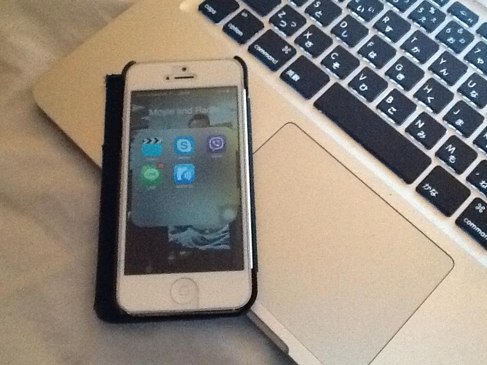 日本から持ってきたiPhone