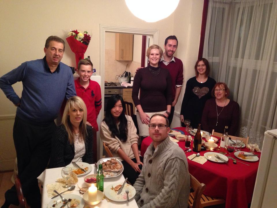 Russellの家族とシェアメイトのAyumichan