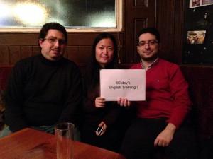 中国人のアート系学生Yang,スペイン人のFederico,イギリス人のFaisal