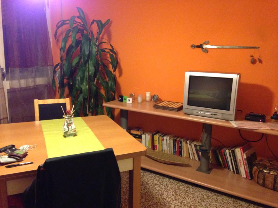 テレビ付きの部屋でした。