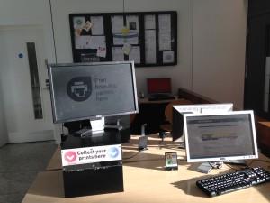 スタンステッド(Stansted)空港の有料パソコンと有料プリンター