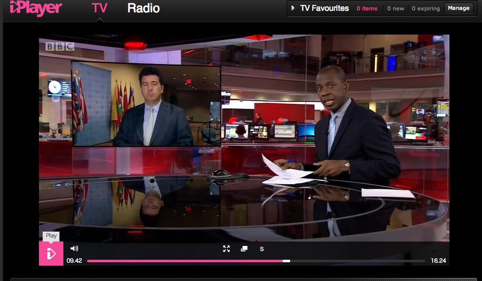 BBCIplayerのニュース画面
