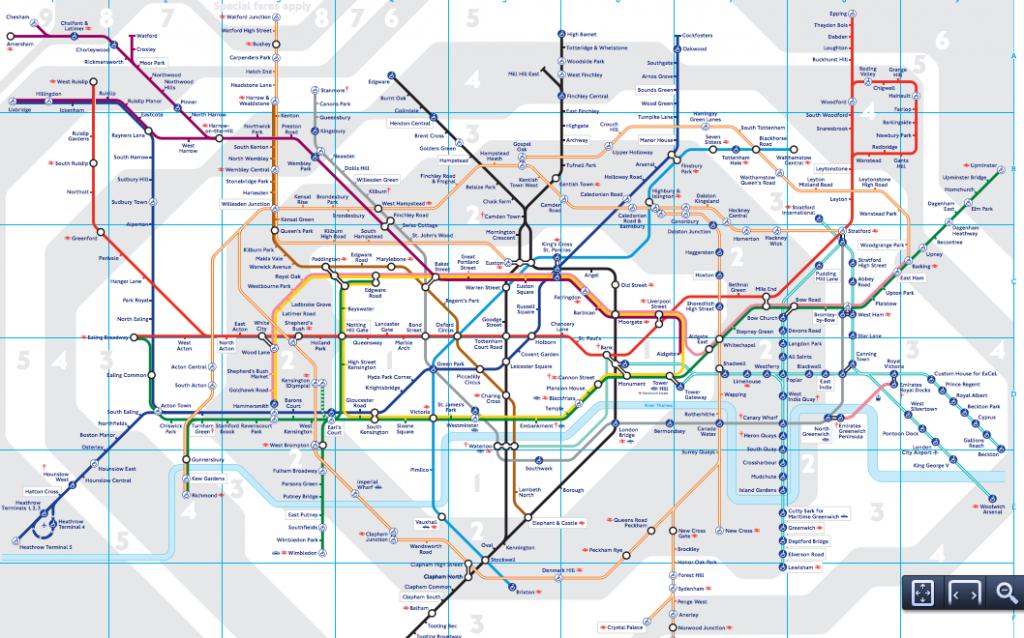 イギリスの地下鉄路線図