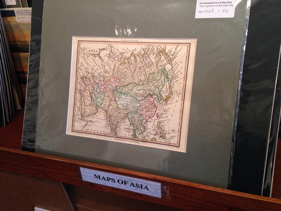 1825年のアジアの地図