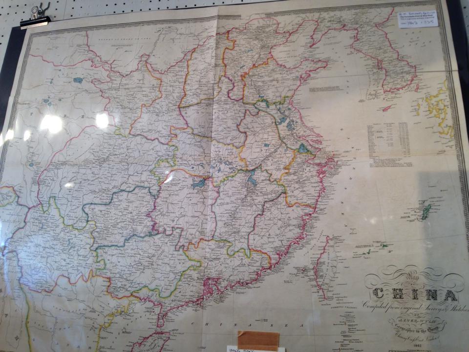 1800年代半ばの中国の地図