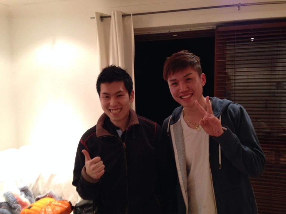 キムと2人で髪を切った時の写真