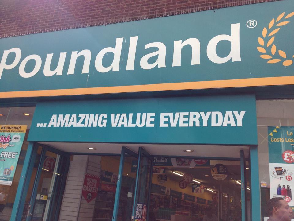 イギリスの100均「Poundland」