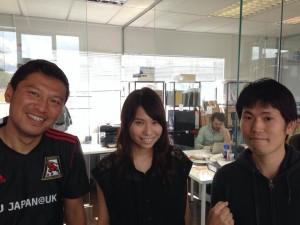 Cultureal編集長の多葉田愛ちゃんとFootballsamuraiacedemyリーダーの宮原さん