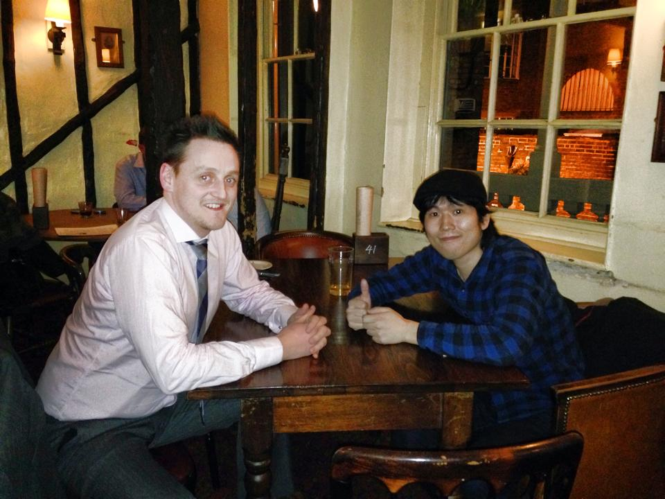 友人のPaulと飲みに行った時の写真