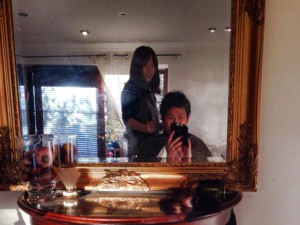 髪を切ってくれたスージーさんと僕