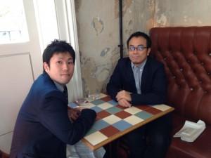 シンガポールで有田焼などを始めとする伝統技術のローカライズをプロデュースされている大谷さんとロンドンでランチした時の写真