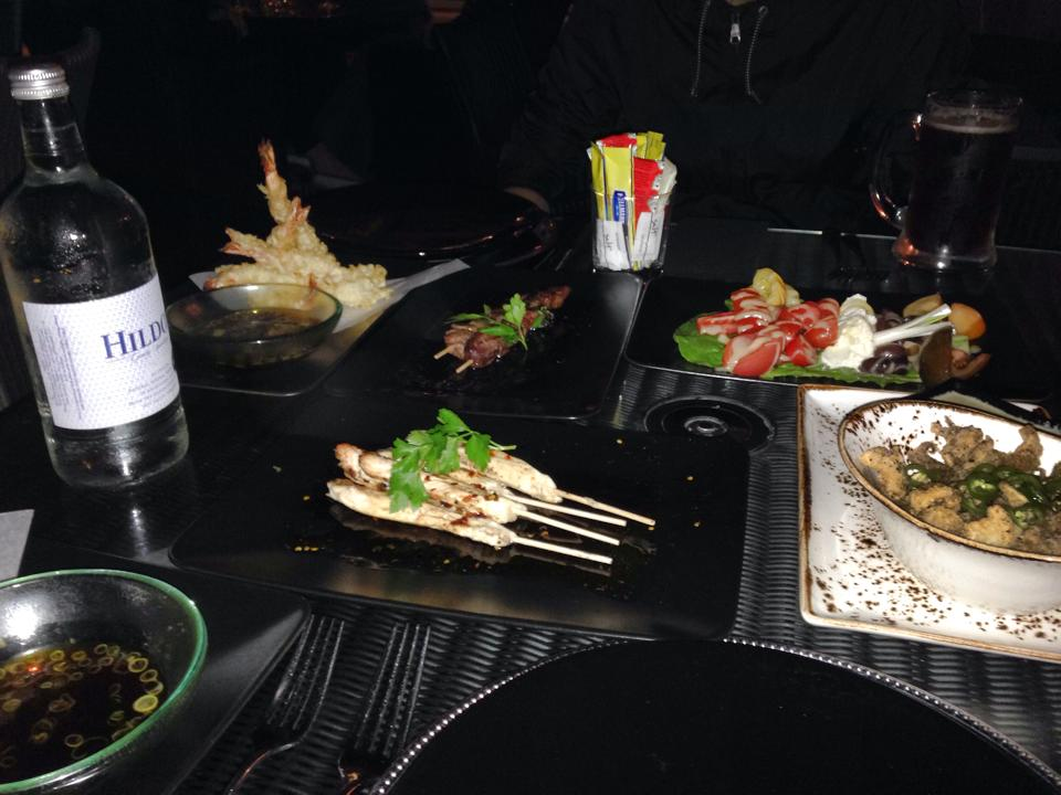 エビ天などの前菜