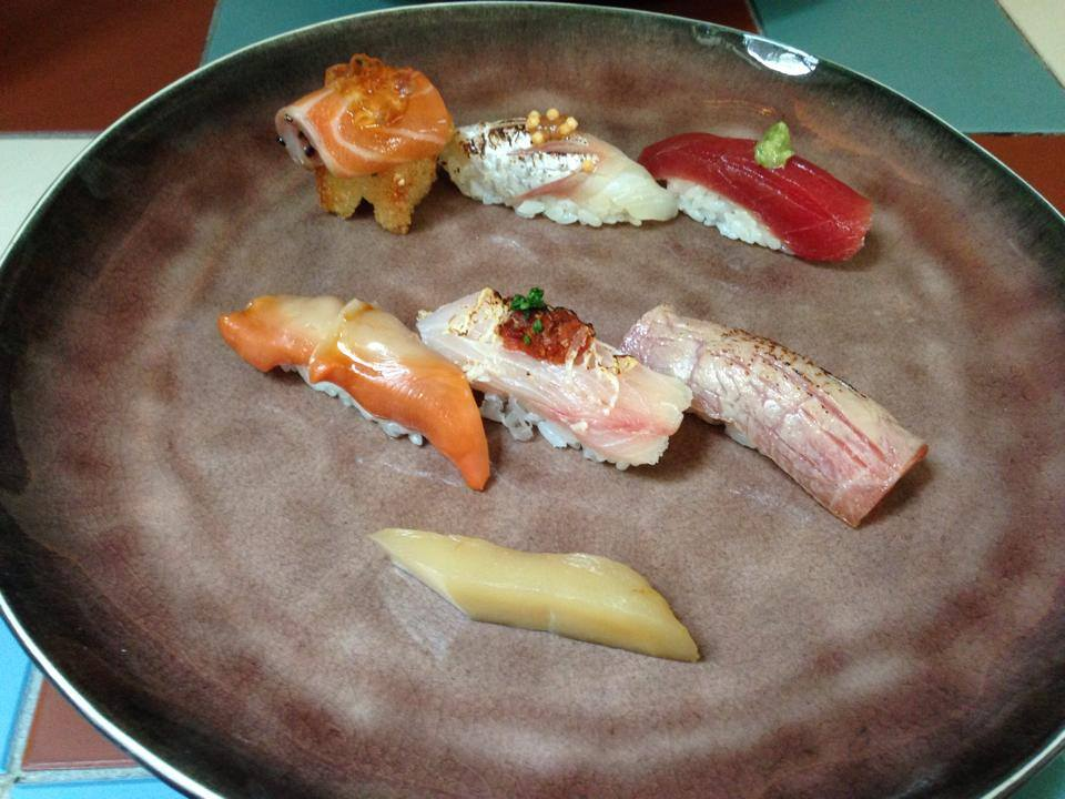 寿司ランチのスターター