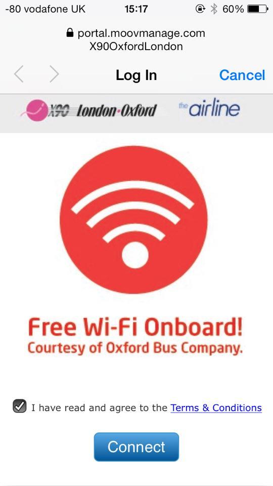 バスの中にはフリーWi-Fiもありました!