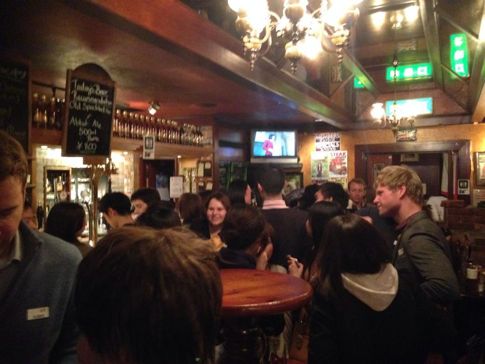 赤坂のパブで行われたイベントの会場の様子