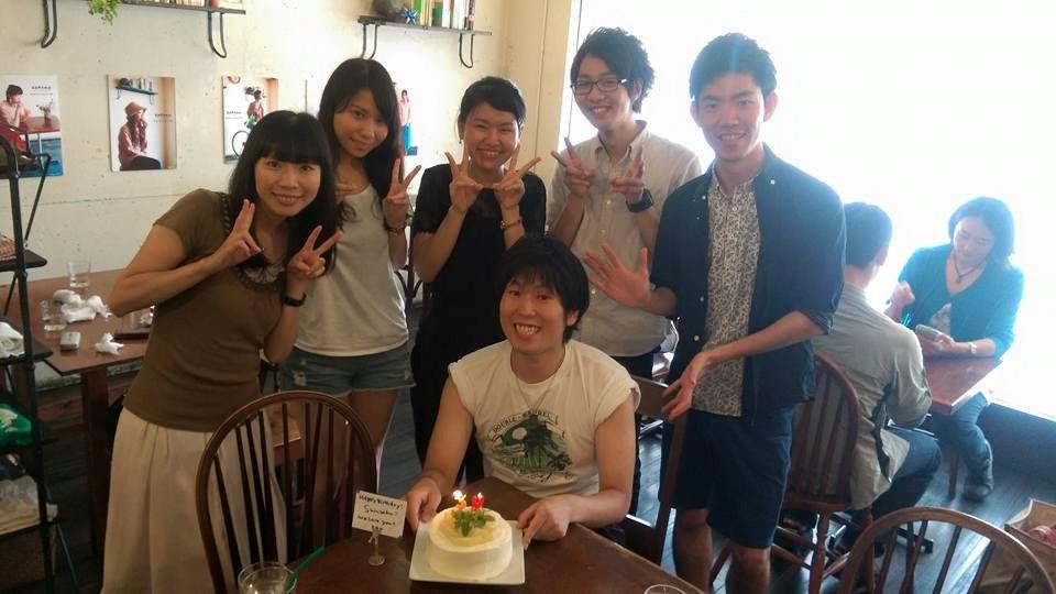 30歳の誕生日を祝ってもらう。